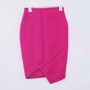 Bisou Bisou Fuschia Pencil Skirt
